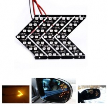 14 SMD LED Arrow Panel For Car Rear View Mirror Indicator Turn Signal Light Car LED Rearview mirror light AJ