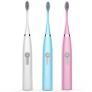 Electric Toothbrush IPX7 Waterproof Whitening Prevent Tooth Decay Removes Plaque with 2 Extra Replacement Brush Heads …