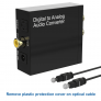 DAC Converter Digital Optical Coax to Analog RCA (Stereo R/L) Audio Adapter.