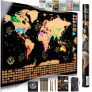 Scratch Off World Map Poster Ultimate Pack