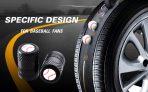 CKAuto 4 Pack Baseball Tire Valve Stem Caps, Black Anodized Aluminum Tire Valve Cap Set, Corrosion Resistant, Universal Stem Covers for Cars, Trucks, Motorcycles, SUVs and Bikes