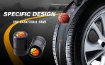 CKAuto 4 Pack Basketball Tire Valve Stem Caps, Black Anodized Aluminum Tire Valve Cap Set, Corrosion Resistant, Universal Stem Covers for Cars, Trucks, Motorcycles, SUVs and Bikes