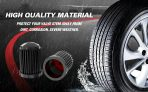 CKAuto 50 Pack Tire Valve Caps, Plastic Valve Stem Caps with O Rubber Seal, Universal Stem Covers for Cars, SUVs, Bike and Bicycle, Trucks, Motorcycles, Airtight Seal Dust Proof, Black 5 Dollar Item
